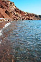 Santorini, Greece: famous and beautiful Red Beach