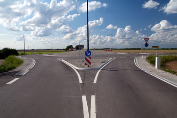 Zufahrt Kreisverkehr