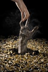 Hand hilft aus der Zigarettensucht