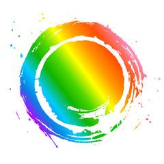 虹 円 フレーム