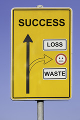 follow the way to success