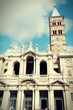 Rome basilica. Cross processed filtered color tone.