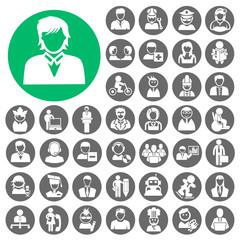 People Icons set. Illustration eps10