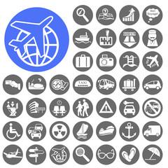 Travelling and Transport Icons set. Illustration eps10