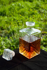 Whiskey in a decanter