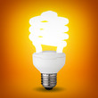 Idea concept with glowing energy saver bulb