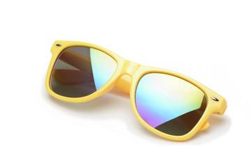 Gafas de sol de color amarillo