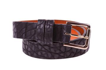 leather black belt