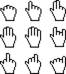 Illustration of Pixelated Hand