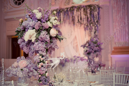 Festive table decoration in Lilac colours. - 68417300