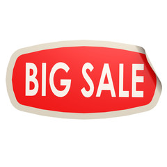Big sales sticker