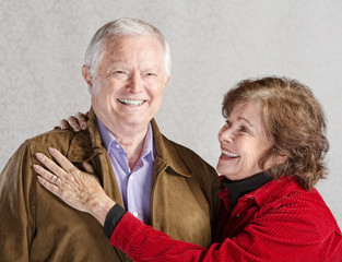 Smiling Woman and Husband