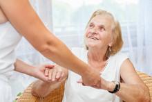 """Постер, картина, фотообои """"Providing care for elderly"""""""