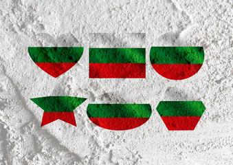 Bulgaria flag themes idea design on wall texture background