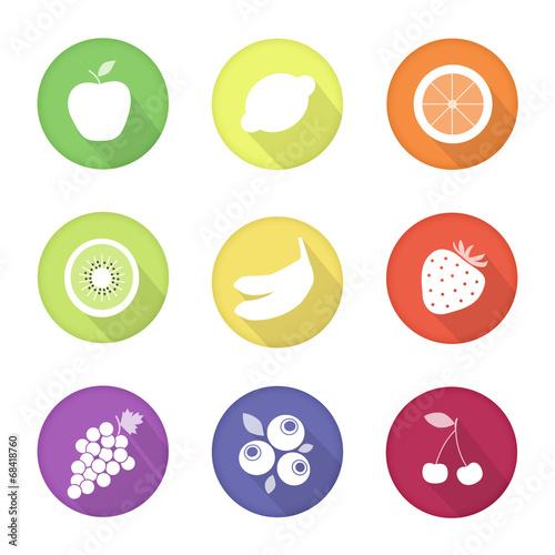 Leinwandbild Motiv fruit web icons