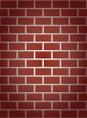 seamless a red brick wall with shading in the corners