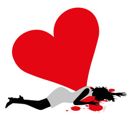 donna colpita a morte da un cuore