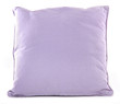 One purple pillow isolated on white