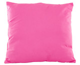 One pink pillow isolated on white