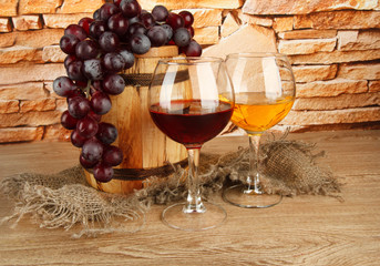 composition of wine and grapes