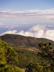 Wolken im Gebirge Teneriffas