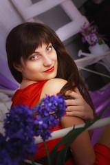 Pretty young woman portreit