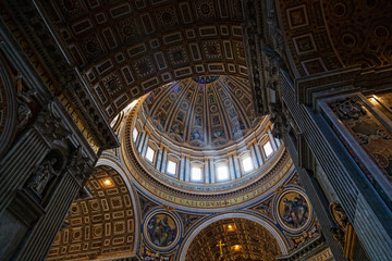 St. Peter's Basilica, Vatican City. Indoor interior