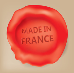 made in France Seal (Vector Art)