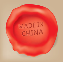 Made in China Seal (vector Art)