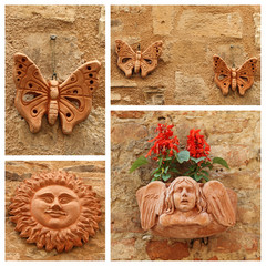 images of group with terracotta decorative trinkets