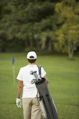 Cape Verdean woman on golf course