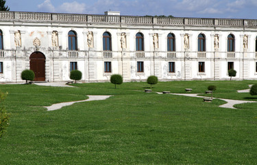 nice garden of fabulous villa Contarini in Piazzola sul Brenta i