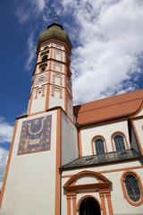 Kirchturm der Klosterkirche Andechs