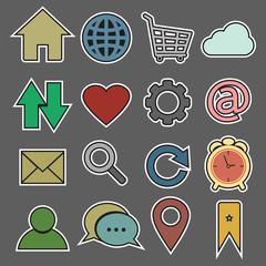 Website and Internet sticker Icon