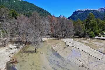 Riverbed in the mountains