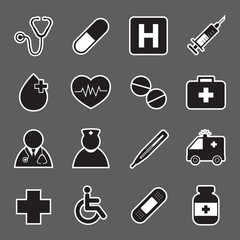 medical sticker icons