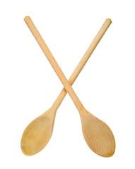 Wooden spoons crossed