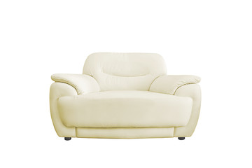 White leather sofa