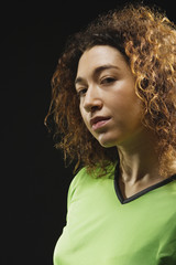Mixed Race female athlete