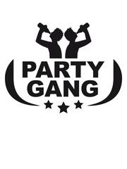 Party Gang Bier Alkohol Trinken Saufen