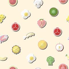 Illustration of healthy food flat pattern