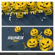 Obrazy na płótnie, fototapety, zdjęcia, fotoobrazy drukowane : Halloween party banners