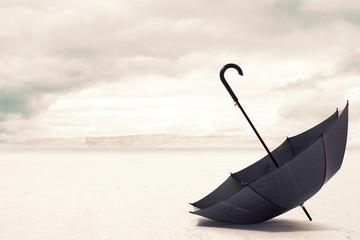 Umbrella in a Desert