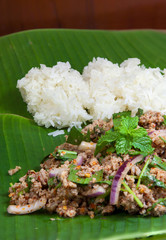 Spicy minced pork 1