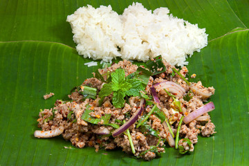Spicy minced pork