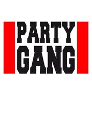 Text Logo Design Party Gang