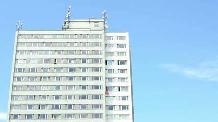 high-rise block of flats - blue sky