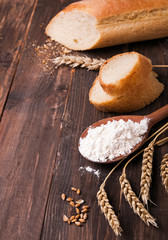 Wheat, flour and bread