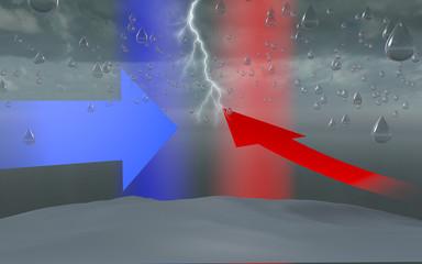 Bomba d'acqua cielo nuvolo temporale formazione pioggia goccia