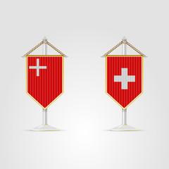 Illustration of national symbols of Switzerland.